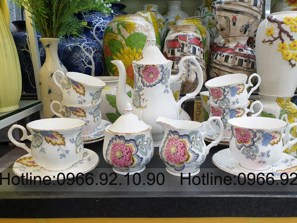 Bộ trà , cafe phong cách tân cổ điển 15 món