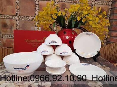 Bộ bát đĩa in logo VietinBank